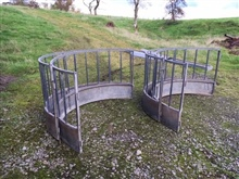2 Sheep Ring Feeders