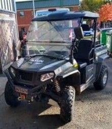 Hisun ATV c/w with winch, year 2018. Hours to follow